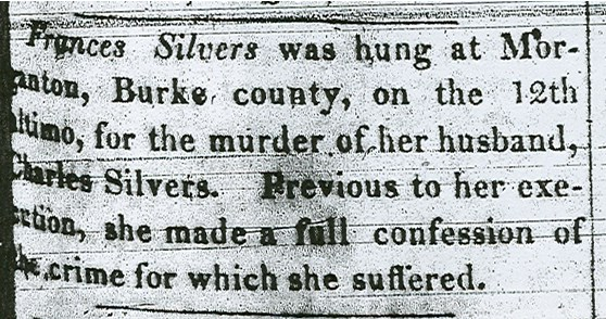 A newspaper article announcing Silver's death.