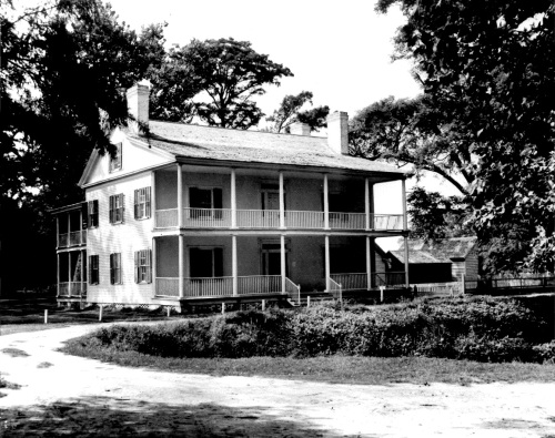 The Collins House at Somerset Place in 1970. Image from the  State Historic Preservation Office.