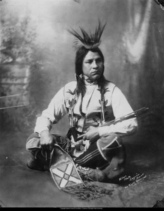 Chief Buffalo Child Long Lance, circa 1908. Image from the Atlanta Journal-Constitution and courtesy of the Georgia State University Library.