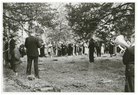 The Easter Sunrise Service at Bethabara Moravian Church in 1938.