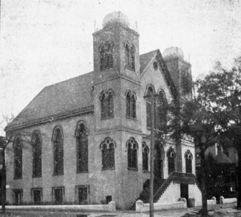 A historical view of Wilmington's Temple of Israel. Image courtesy of the New Hanover Public Library.