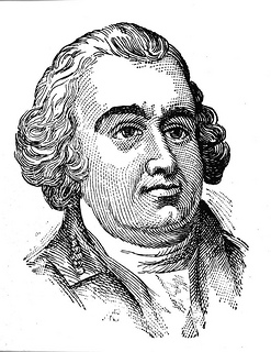 Woodcut of Thomas Burke, date unknown. Image from the State Archives.