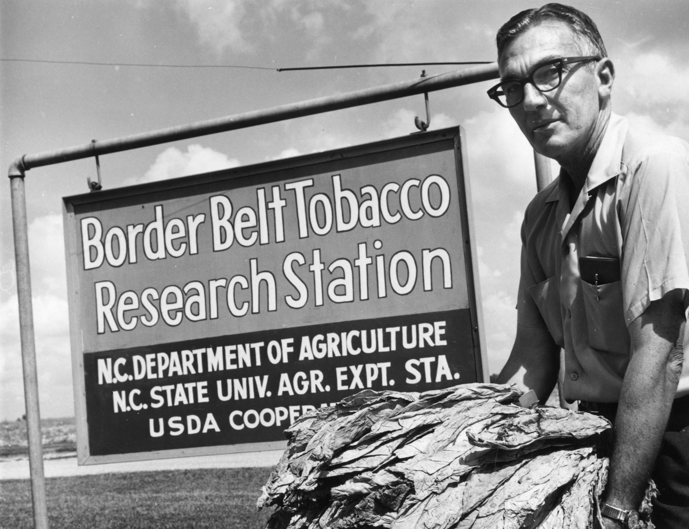 The Border Belt Tobacco Research Station in Whiteville, circa 1940. Image from NCSU Libraries.
