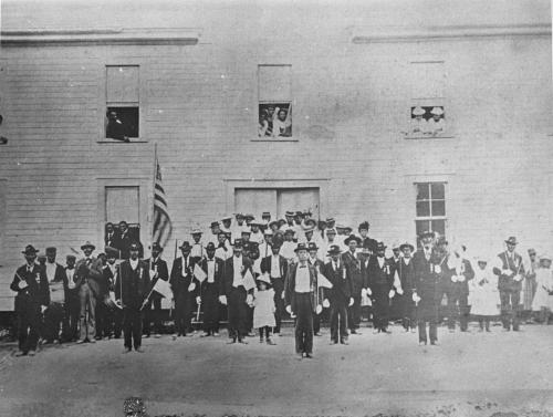 A reunion of the 35th United States Colored Troops in Plymouth, circa 1905. Image from the State Archives.