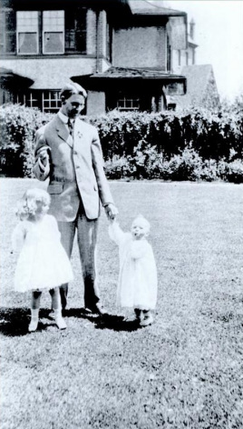 Charles E. Waddell with his children at their Biltmore Village home