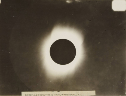 The 1900 Wadesboro eclipse. Image from the North Carolina Collection
