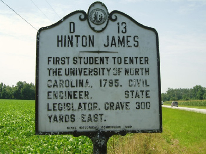 Hinton James: First Student at Chapel Hill