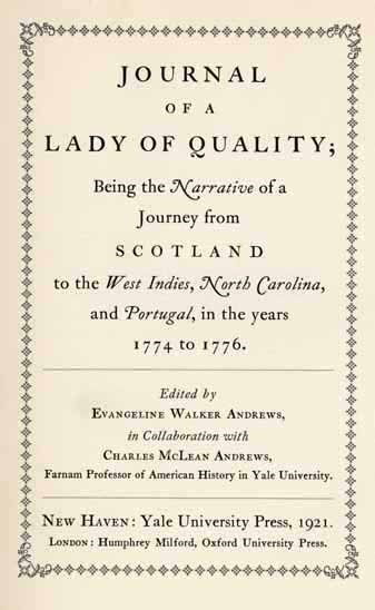 Journal of a Lady of Quality