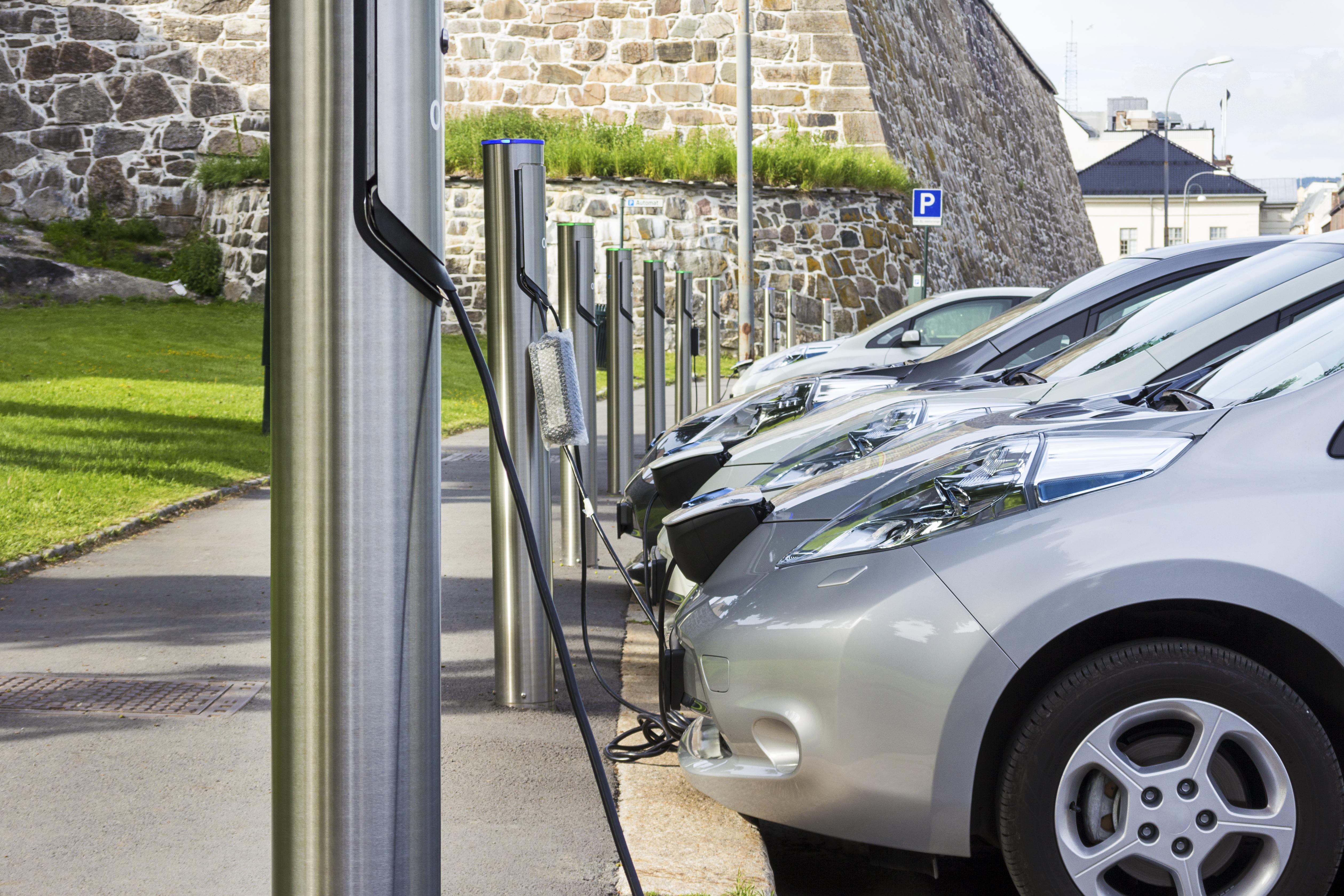Zero Emission Vehicles Charging Outdoors