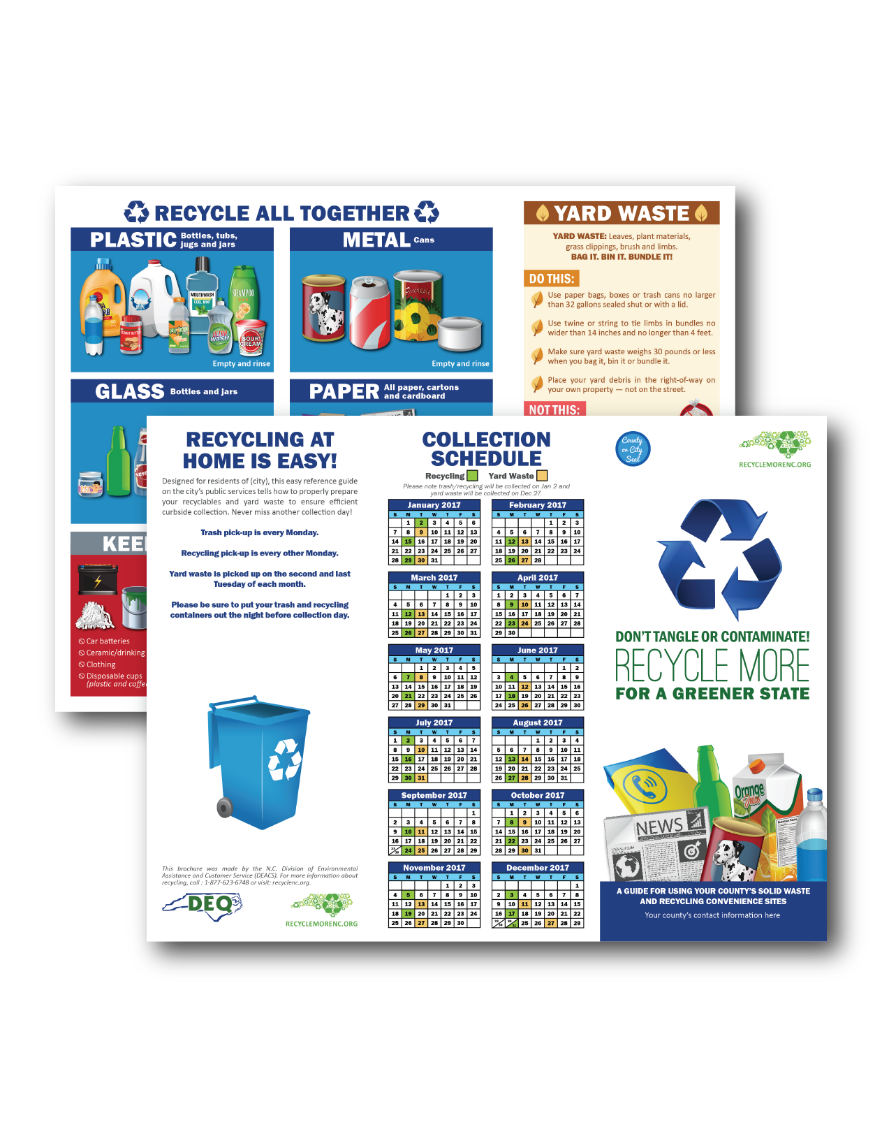 Recycling collection schedule