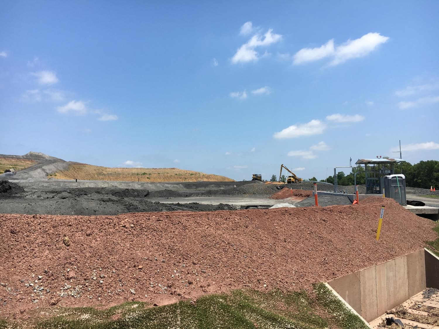 Photo of coal combustion residuals landfill at Dan River facility