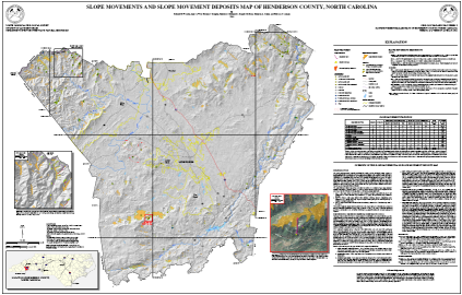 Slope Movements and Slope Movement Deposits Map of Henderson County, North Carolina