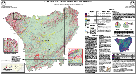 Stability Index Map of Henderson County, North Carolina