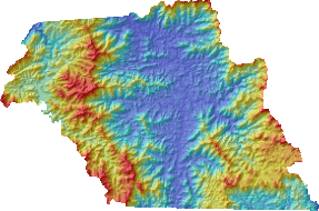 macon County Digital Elevation Model