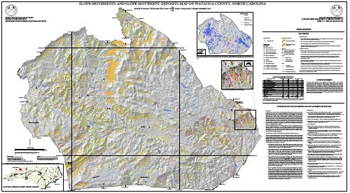Slope Movements and Slope Movement Deposits Map of Watauga County, North Carolina