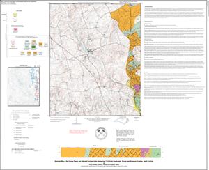 Geologic Map of the Orange County and Adjacent Portions of the SAXAPAHAW Quadrangle, Orange and Alamance Counties, North Carolina