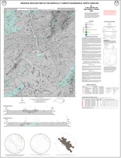 Bedrock Geologic Map of the Asheville 7.5-minute Quadrangle, North Carolina, by Miller, J.W., and Fryer, K.H., 2000, Revised 2007.