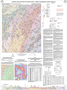 Bedrock Geologic Map of the White Rock 7.5-minute quadrangle, North Carolina, by Carter, M.W., Williams, S.T., and Merschat, C.E., 2001