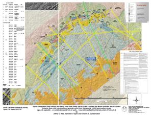 Digital compilation map Sanford sub-basin, Deep River Basin, parts of Lee, Chatham and Moore counties, North Carolina