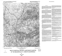 Map of Surficial Deposits, Northeast Quarter of the Weaverville 7.5-minute Quadrangle,by Mills, H.H., 1996.