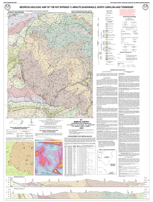Bedrock Geologic Map of the Hot Springs 7.5-minute Quadrangle, North Carolina and Tennessee,Carter, M.W., 1996.