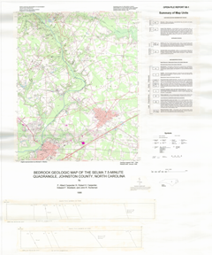Bedrock Geologic Map of the Selma 7.5-minute Quadrangle, Johnston County, North Carolina,  by Carpenter, P.A., III, Carpenter, R.H., Stoddard, E.F., and Huntsman, J.R., 1998.