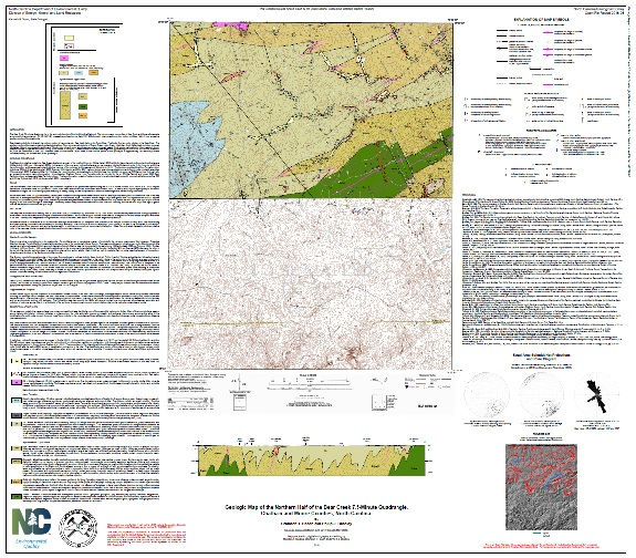 Geologic map of the northern half of the BEAR CREEK Quadrangle