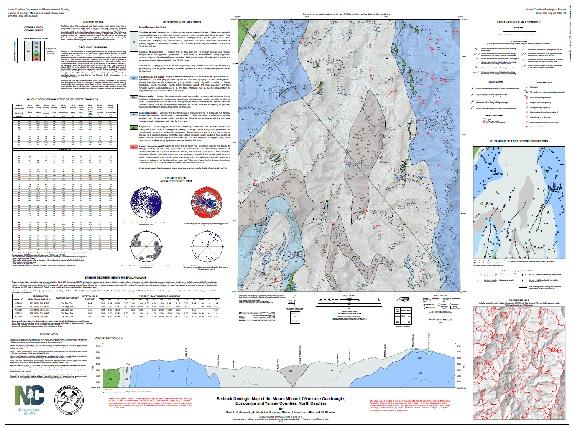 Geologic Map of theMOUNT MITCHELLQuadrangle