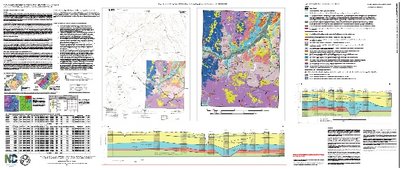 Geologic Map with Geomorphic Landscape Elements of the FALKLANDQuadrangle, Southeast Quadrant, North Carolina