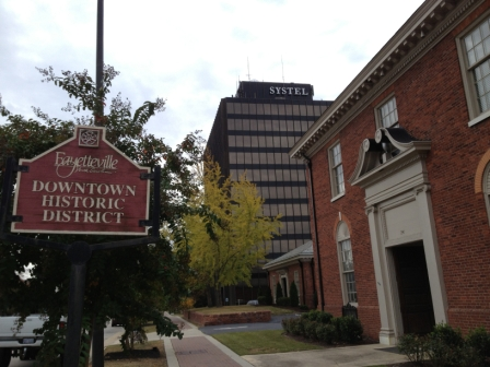 Sign of Fayetville Downtown Historic District
