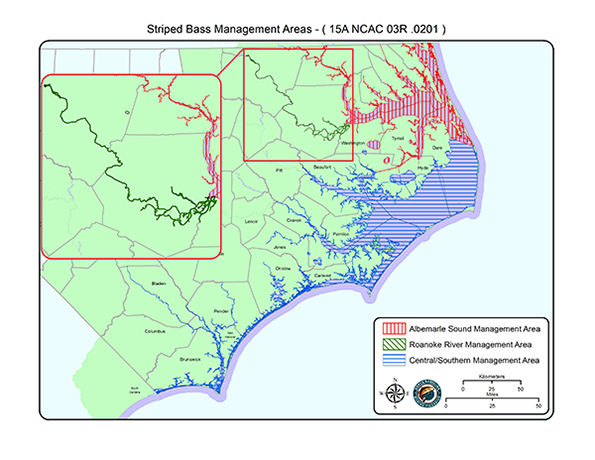 Striped Bass management areas