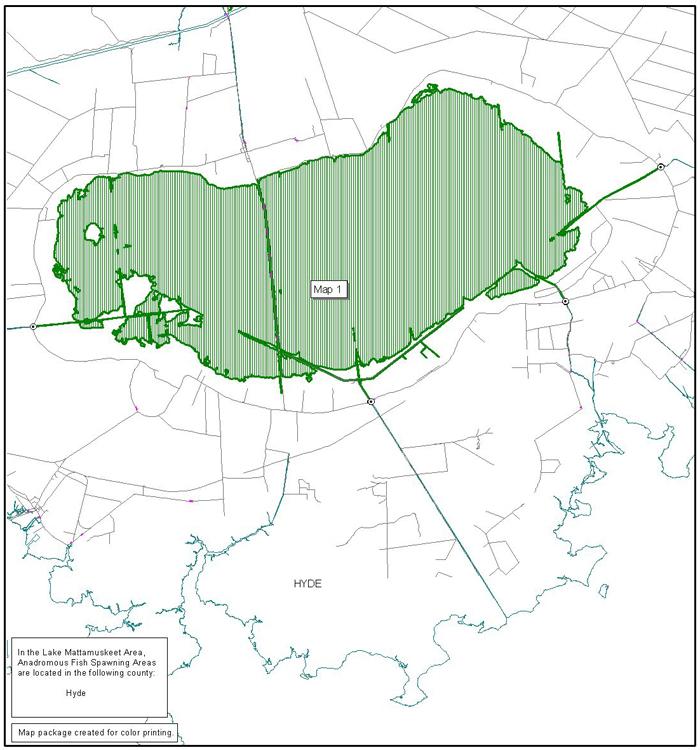 Lake Mattamuskeet area map