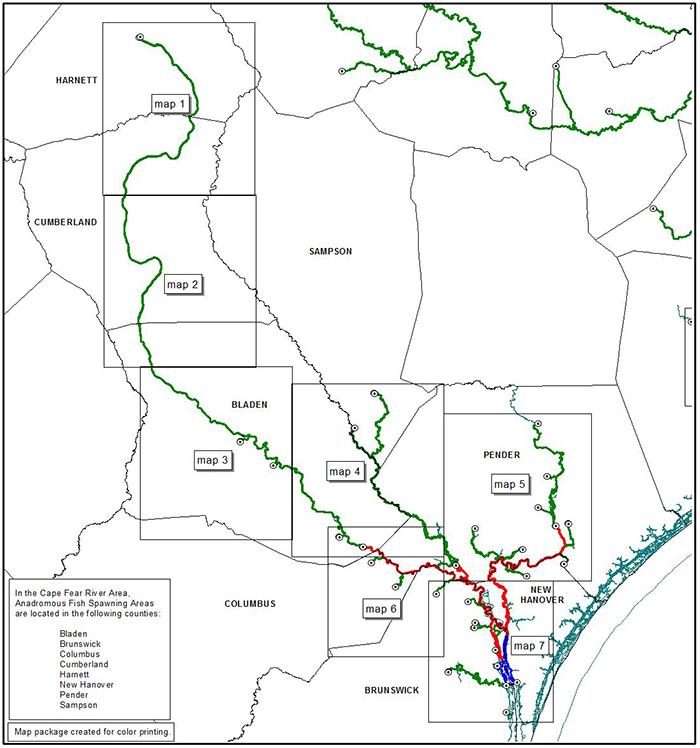 Cape Fear Area map