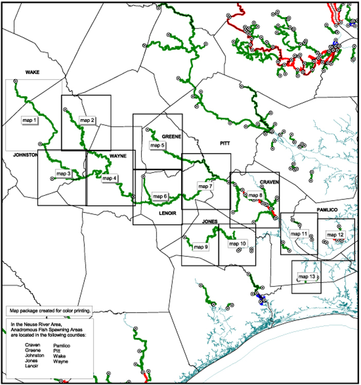 Neuse River area map graphic
