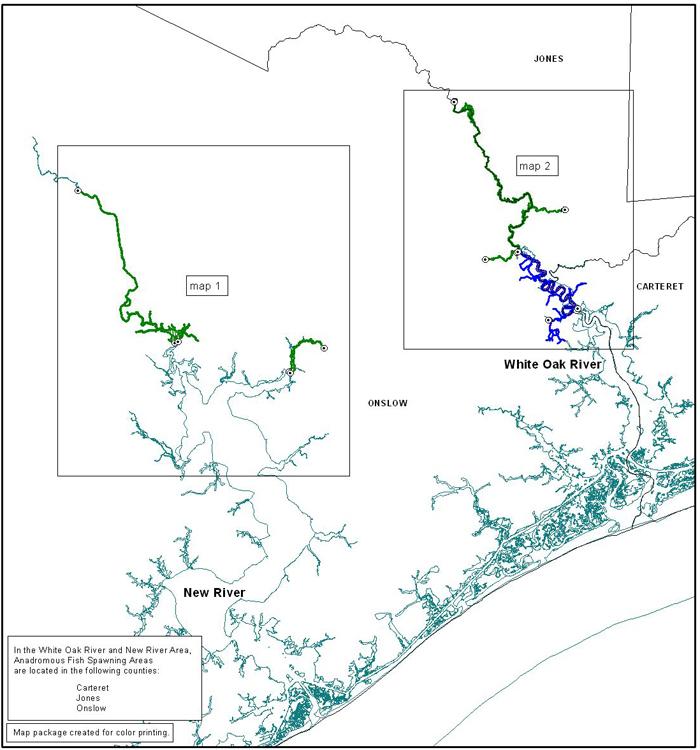 White Oak - New River area map