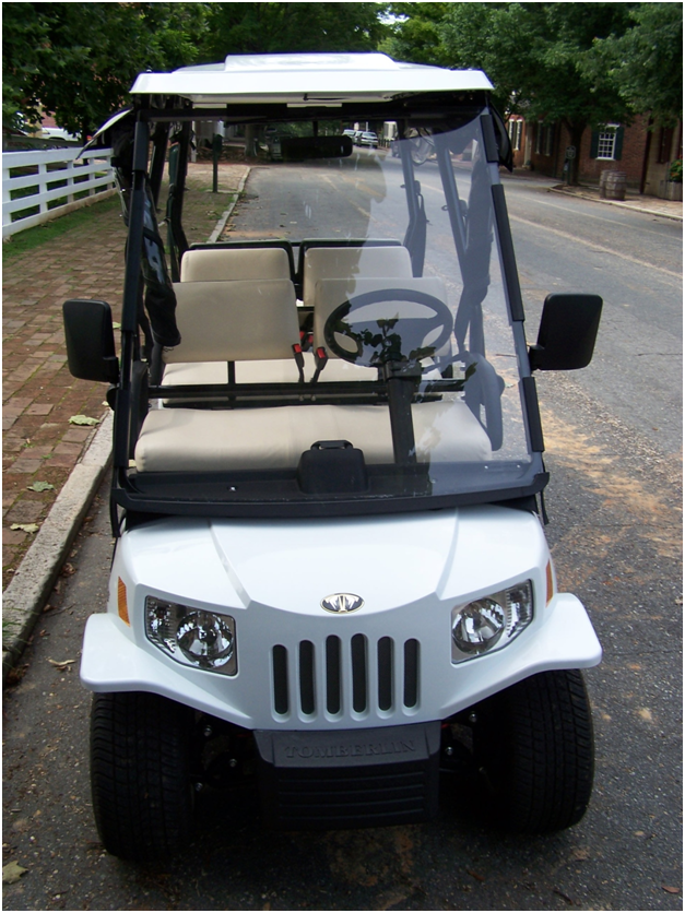 White golf cart