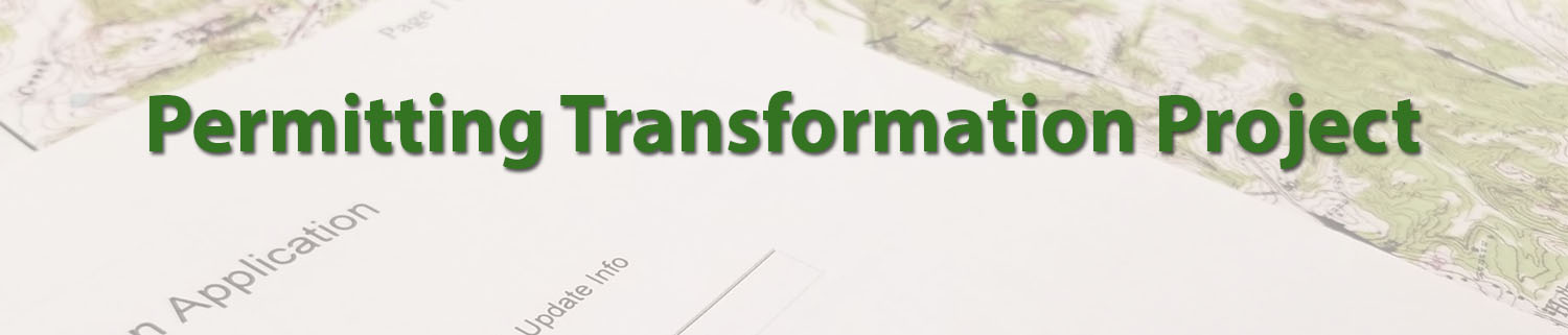 Image of map and permit application for Permitting Transformation webpage