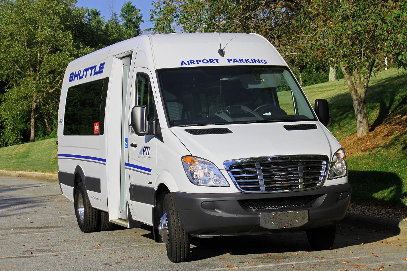 White small bus