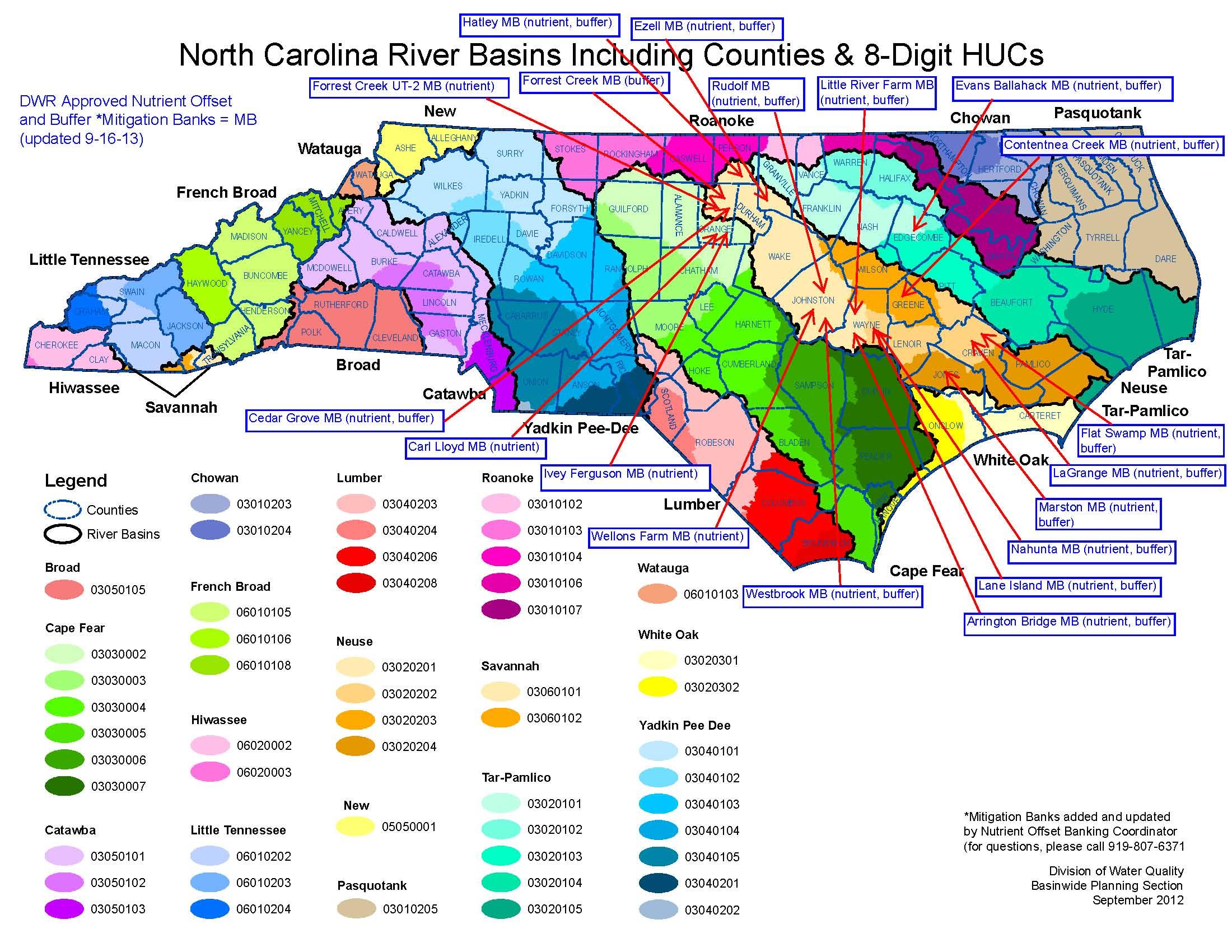 NC DEQ: Nutrient & Buffer Templates