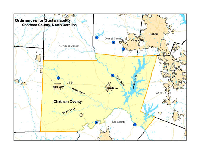 A Further Protection Of Water Quality By Increasing The Width Of All Perennial Stream Buffers To 100 Feet Within Areas That Drain To Jordan Lake Map
