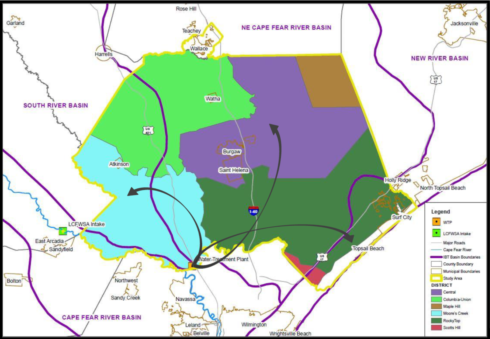 Pender County IBT map