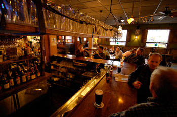 Interior photo of Jack of the Woods bar