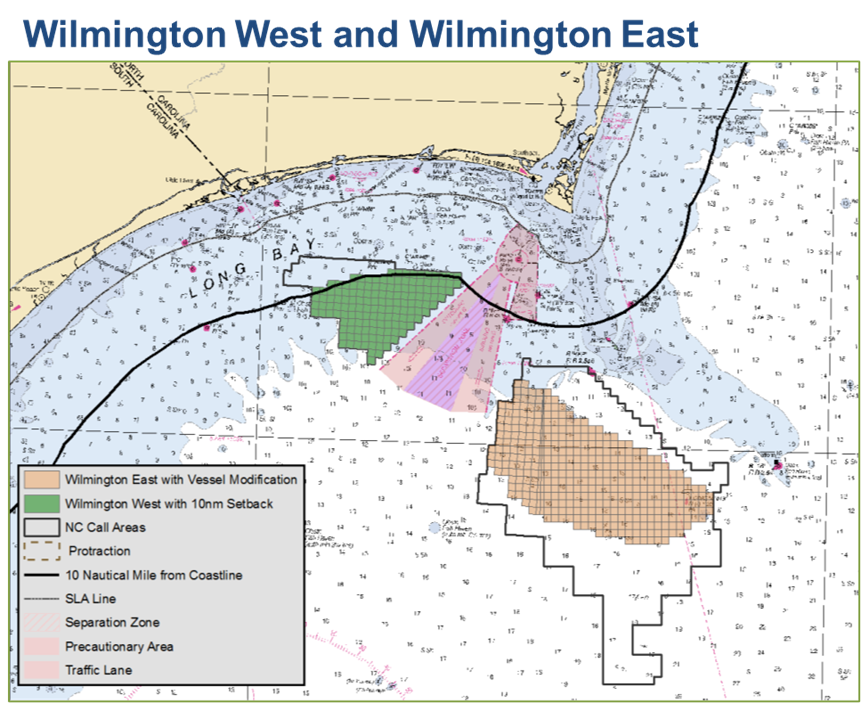 Map of Wilmington Wind Energy Areas