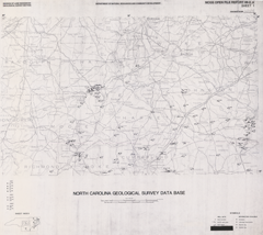 North Carolina Geological Survey Database Maps- Sheet 1: Raleigh 1° x 2° Quadrangle by Nickerson, J.G., and Hoffman, C.W., 1988.
