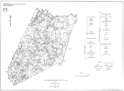 Geologic Map of NASH County, Scale 1:125,000, by Wilson, W.F., and Spence, P., 1979.