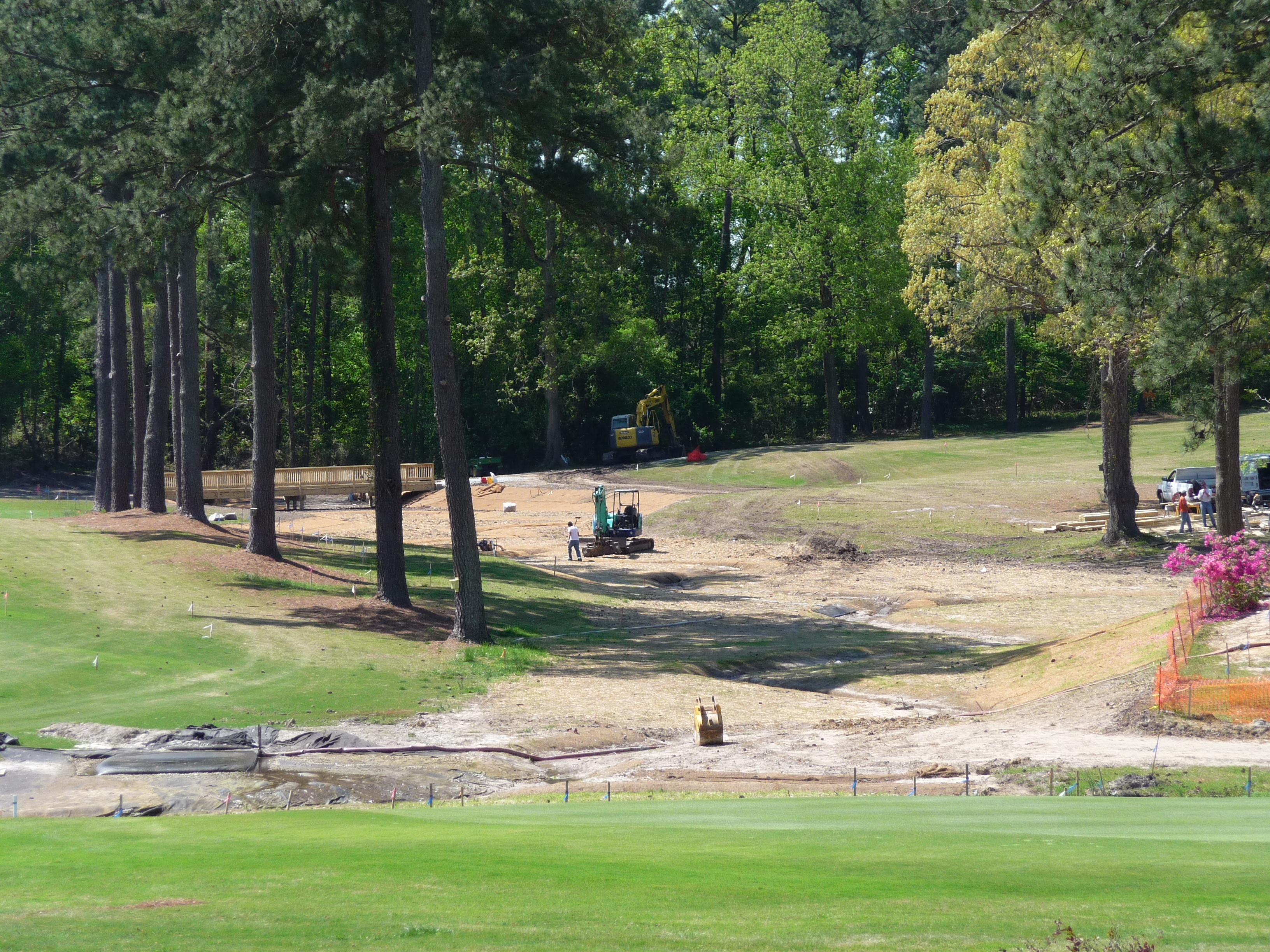 Jacksonville Country Club Stream Restoration Project During Construction