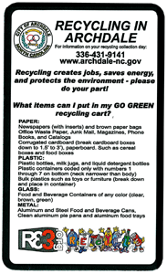 Archdale Recycling magnet