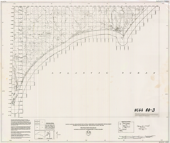 Protraction Diagram: North Carolina Submerged Land Leases, Manteo, Beaufort, and Georgetown 1 x 2 degree sheets, by The North Carolina Geological Survey, 1980.