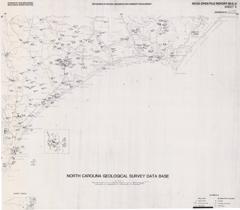 North Carolina Geological Survey Database Maps- Sheet 5: Beaufort 1° x 2° Quadrangle by Nickerson, J.G., and Hoffman, C.W., 1988.