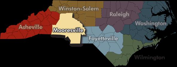 N.C. DENR Regional Offices map - clickable